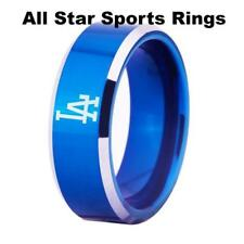 Los Angeles Dodgers Black or Blue Tungsten Sport Band W/Silver Edges sizes 4-17