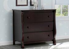 Delta Children Universal 3 Drawer Dresser, White