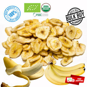 100% pure natural organic dried/dehydrated banana fruit chips/coin Ceylon free