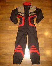 Vtg Color Block BOGNER Womens XS S One Piece Snow SKI Bib Suit Coat Snowsuit 4