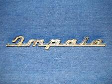 Chevy Impala Script Emblem Silver Metal Rare