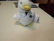 "Aflac Doctor Duck Talking Advertising Hospital Medical Plush 6"""