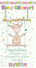 Baby Shower Congratulations Girafe Swing Design New Baby Birth greeting card