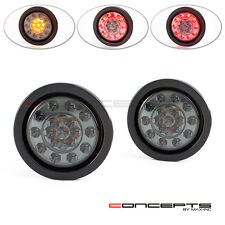 "4"" Uni Flush Mount LED Stop Tail Brake Light + Turn Signals Indicators Blinkers"