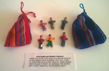 2 Pouches of 6 Fair Trade Guatamalan Worry Dolls.