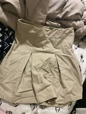 Two Girls uniform skirts cat and jack and lands end size 12. Beige