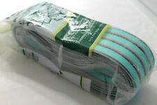NOS Vintage Re-Web Kit Jordan Lawn Chair Sea Green BLK/RED Stripe Webbing 72'