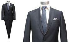 Herren Anzug tief ausgeschnittene Weste Gr.56 Anthrazit