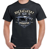 Rockatansky Mens Mad Max Inspired T-Shirt Supercharger Interceptor Car Film