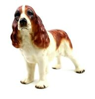 Vintage Bone China Springer Spaniel Figurine Unmarked 17.8 cm