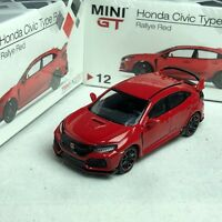 1/64 TSM Model MINI-GT Honda Civic Type-R FK8 Rallye Red LHD #MGT00012L
