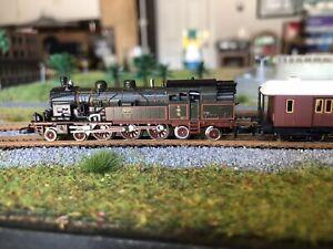 Z Scale Marklin 8119 Steam Loco Epoch V & Passenger Cars Set DCC & LED Rare