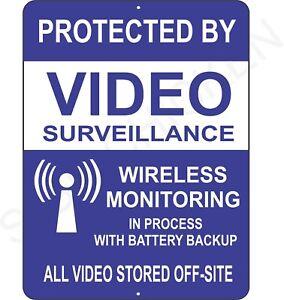 Surveillance signs Warning Security cctv sign Audio Video Camera