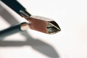 Carbon Steel Jeweller's Side Cutters / Diagonal Cutters - 120 mm, green handles