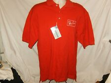 RAY BAN SUNGLASSES POLO SHIRT Retro Red Sewn Classic Logo Aviator Wayfarer M