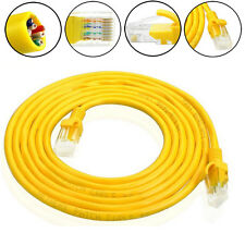 100cm External  Network Ethernet Cable CAT5e 100% Copper RJ45 Yellow Durable
