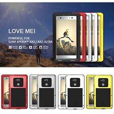 LOVE MEI Protective Cover Silica Gel Aluminum Metal Case For SONY XA2 Ultra /XA2