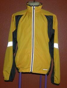 Sugoi Windbreaker Style Cycling Jacket Men's Large Yellow Reflective