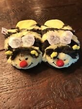 Pillow Pets Slippers- Bumbly Bee- Size Small NEW -As Seen On TV