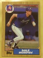 1987 Topps Dale Murphy Baseball Card #490 Braves Outfield High Grade (OC)
