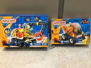 MECCANO City Construction Sets Builder 6101 & Dump Truck 4100 Boxed BUNDLE