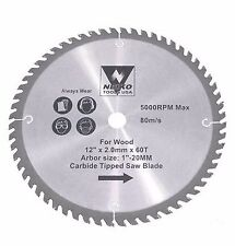 """NEIKO 10767A - 12"""" x 60 Tooth Carbide Tipped Wood Saw Blade - New"""