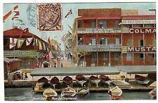 CHINA EGYPT 1908 1/2 CENT IMPERIAL CHINA STAMP TIED PEKING POST CARD VIEW OF POR