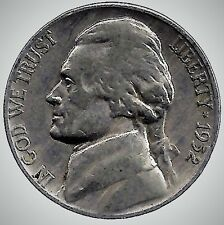 1952 D Jefferson Nickel, Finish Your Book With This Circulated Coin, #5017