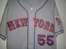2008 TOM NIETO NEW YORK METS GAME USED WORN ROAD JERSEY