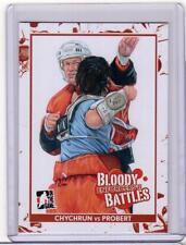 JEFF CHYCHRUN VS BOB PROBERT 13/14 ITG Enforcers 2 II Bloody Battles #160 Card