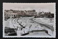 Carte postale ancienne CPA BIARRITZ - La Grande Plage vers Le Casino Bellevue