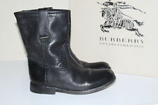 New sz 6 US / 36 Eur / 3 UK Burberry ALBION Black Leather Biker Boots Shoes