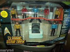 CLASSIC STAR TREK - U.S.S. Enterprise BRIDGE NEW Captain KIRK & STAFF Playmates