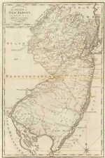 NJ 1795 MAP Ventnor City Verona Westwood Williamstown New Jersey History HUGE