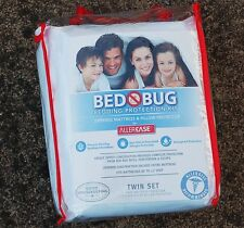 Bed Bug Bedding Protection Kit Protects Twin Set Bed Mattress & Pillows New!