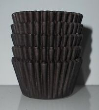 100  mini cupcake cases baking muffin cake petits fours chocolate / brown