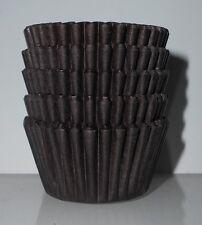 100 Mini Magdalena Cajas Hornear Muffin Torta Petits Fours Chocolate/Marrón