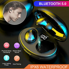 TWS Bluetooth 5.0 Headset Wireless Earphones Mini Earbuds Stereo Headphones IPX6