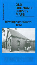 OLD ORDNANCE SURVEY MAP BIRMINGHAM SOUTH 1913