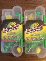 2 Trout Magnet Tackle Box Kits- 68pc Bundle Spin, E-Z Floats, Bugs, and Bodies