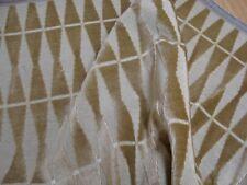 """One yd KRAVET SKYLARK Camel CUT VELVET geometric UPHOLSTERY FABRIC 54""""x 36"""" BTY"""