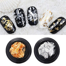 2 Boxes Foil Paper Glitter Nail Stickers Gold Silver Nail Art  Decals