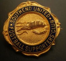 Southend United Football Supporters Club Brooch Pin Badge Maker Fattorini