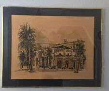 "Sloppy Joe's Duval Street Key West Hand Colored Signed Art Print 31"" x 25"" 1981"