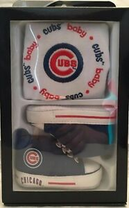 Baby Fanatics Chicago Cubs NEW Infant Bib & High Top Crib Shoes MLB Baseball