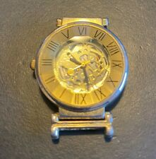 Women's Sergio II Watch, Gold Tone Skeleton Watch, Faceted Crystal, Watch Only