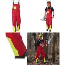 Woodsafe Chainsaw Protective Trousers, Red/Yellow, 50cm