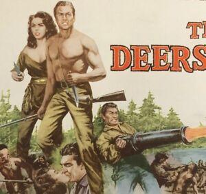 DEERSLAYER LOBBY CARD COMPLETE SET (8) MOVIE POSTER 1957 Moreno Tucker Barker
