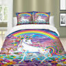 Rainbow Unicorn Duvet Cover Set for Comforter Twin/Queen/King Size Bedding Set