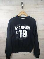 vtg Cool champion spellout sweatshirt sweater jumper refA7 small